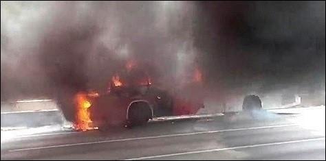 제주 버스 화재…버스 불타, 10여분 만에 진화