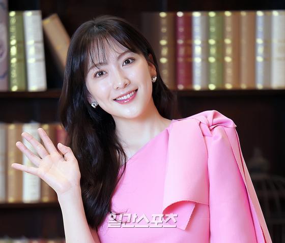 [포토] 강지영 '핑크빛 유혹'