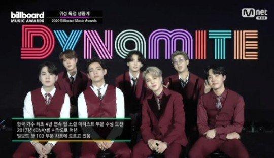 방탄소년단, 4년 연속 '빌보드 뮤직 어워드' 톱 소셜 아티스트 수상