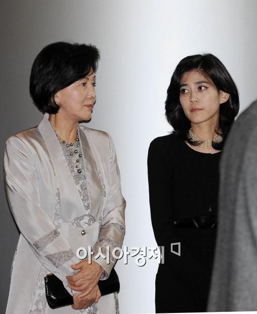[포토]홍라희 여사와 이부진 전무의 대화!