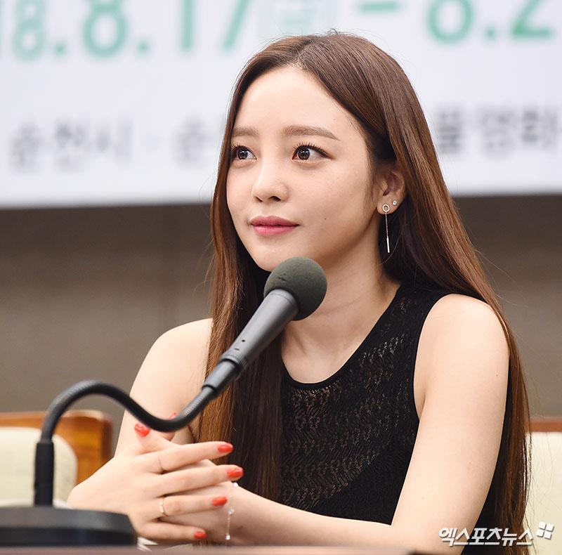 [엑's HD포토] 구하라 '취재진 질문 경청'