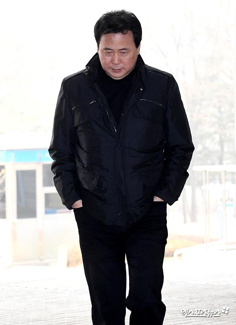'고개숙인 미디어라인 김창환 회장'[엑's HD포토]