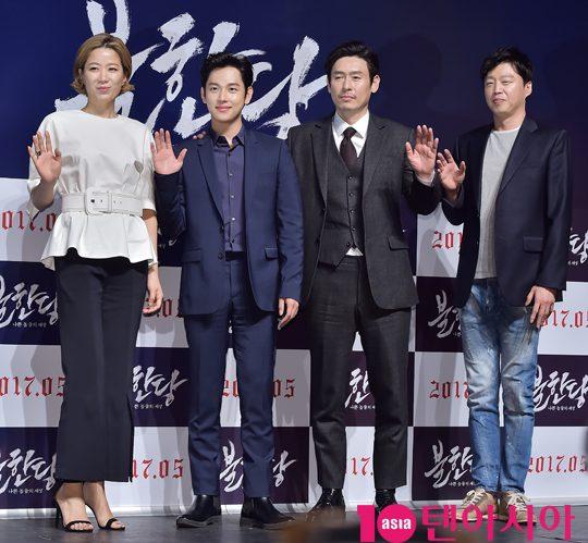 [TEN PHOTO]전혜진-임시완-설경구-김희원 '영화 '불한당:나쁜놈들의 세상' 주역들'