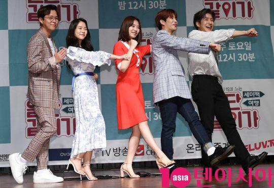 [TEN PHOTO]토니안-한승연-김소혜-아스트로 MJ-진진 '함께가는 여행 '일단 같이 가' 주역들'