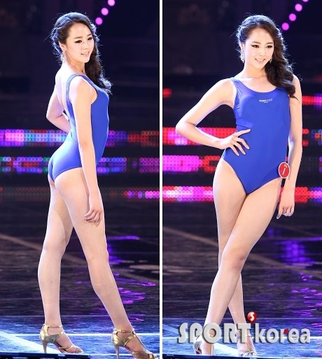 [포토] '2013 미스코리아 진' 유예빈, 수영복을… '놀라운 힙라인'