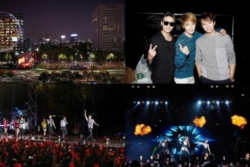 "JYJ 영동대로 콘서트, 5만 명의 팬들과 만나··· ""6년 만의 거리공연 기쁘고 정말 즐겁다"""