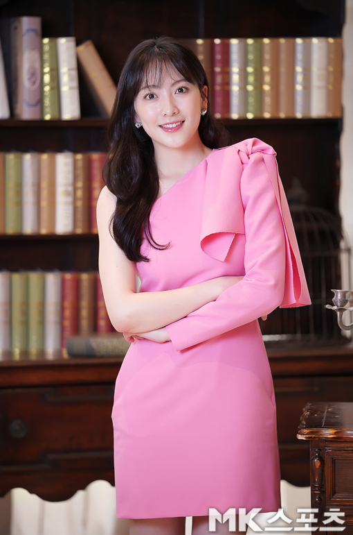 강지영 `오늘은 핑크여신` [MK포토]