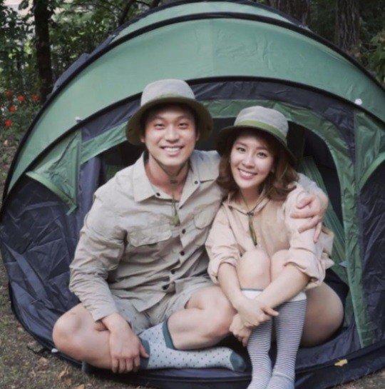 '오뚜기 장녀' 함연지, 남편과 달달한 홈캠핑