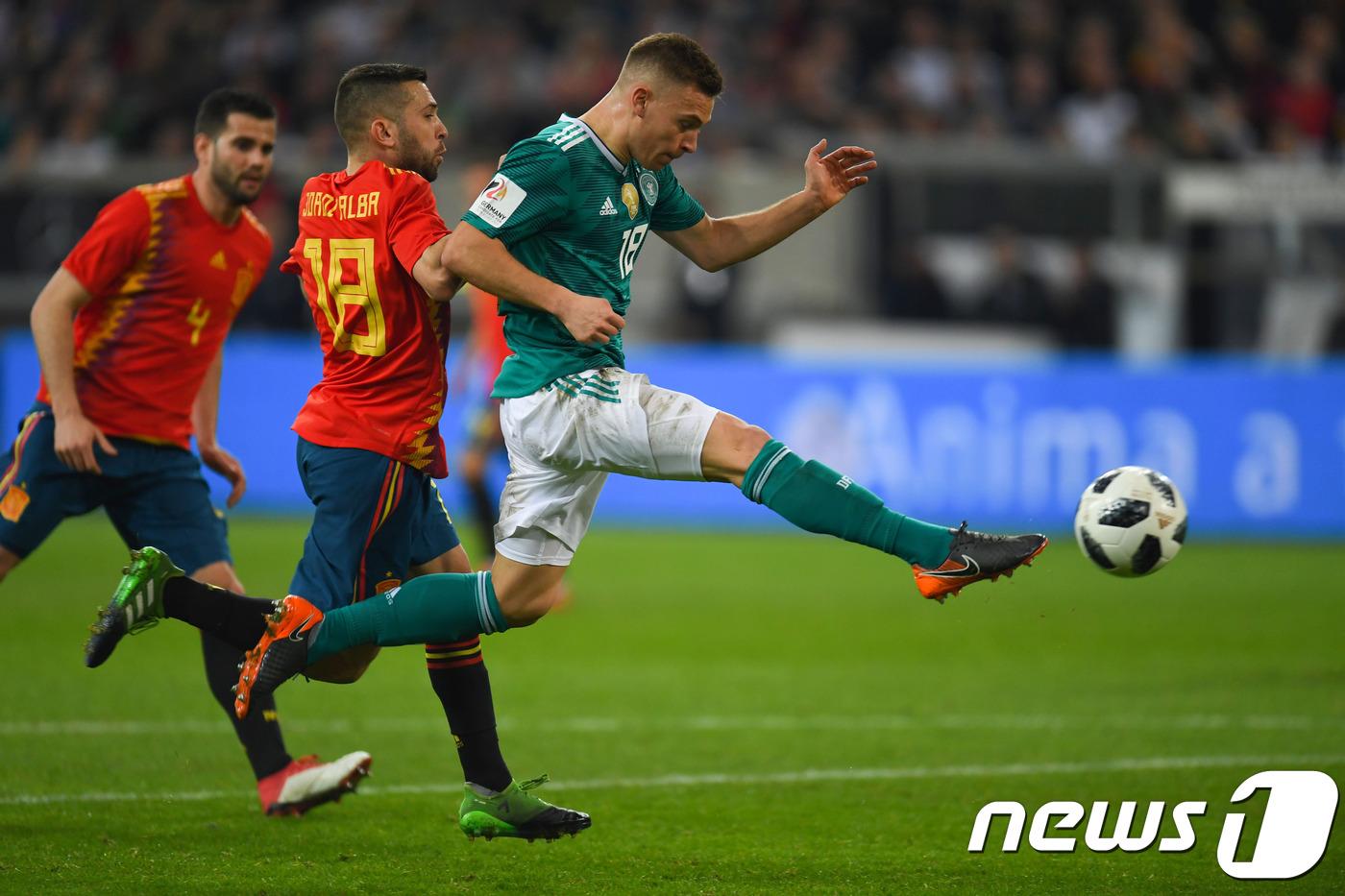 러시아 WC '우승후보' 독일과 스페인의 맞대결, 1-1 무승부