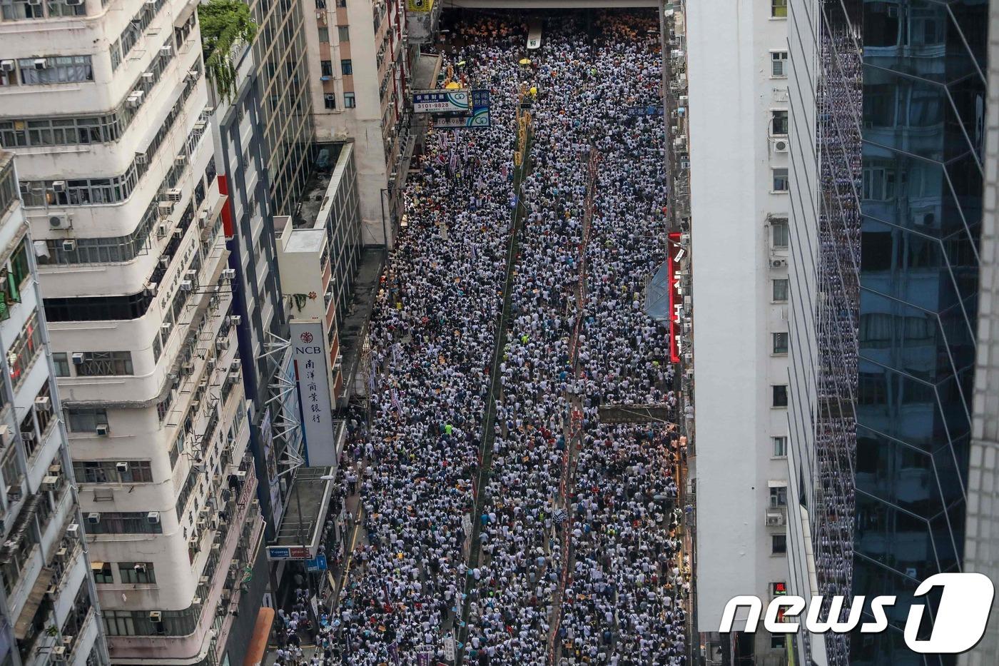 100만명 운집한 홍콩의 범인 인도 협정 개정 반대 시위