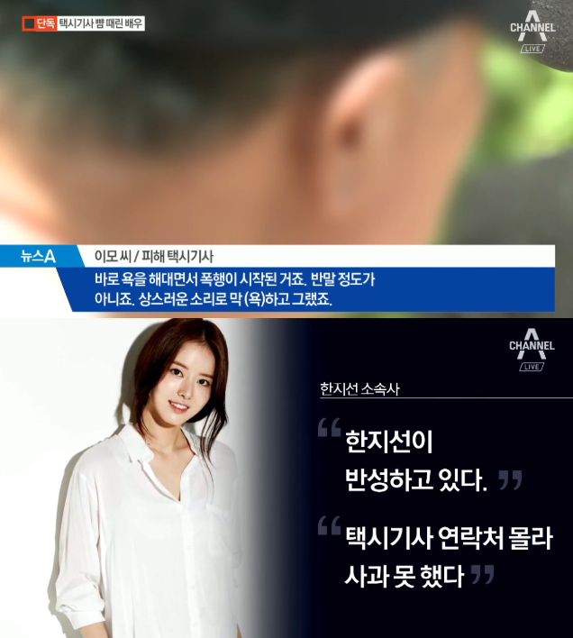 배우 한지선, 택시기사 폭행…벌금형 집행유예