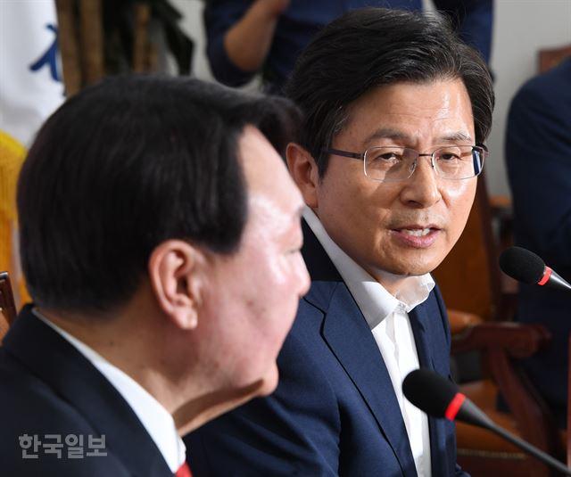 """황교안, 윤석열 향해""""검찰인사 편향우려"""""""