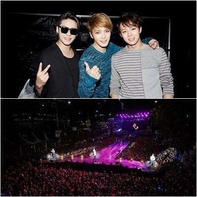 JYJ 영동대로 콘서트, 5만명의 팬들과 가을밤 물들였다!