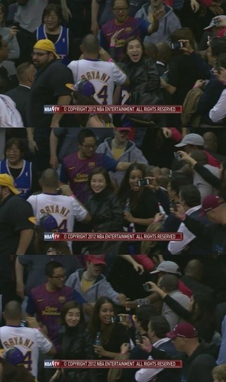 박선영 NBA 관람하다 팬들에 둘러쌓인 사연은?