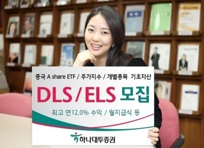 하나대투증권, DLS·ELS 8종 모집