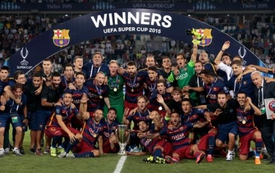 FC 바르셀로나, 통산 5번째 슈퍼컵 우승...UEFA 슈퍼컵은?