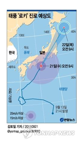 태풍 일본 관통..태풍 피해 속출