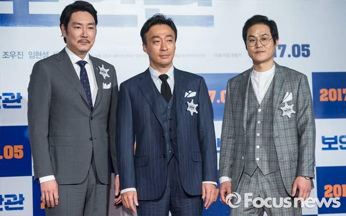 [포토] [K-포토] 영화 '보안관'의 세 배우