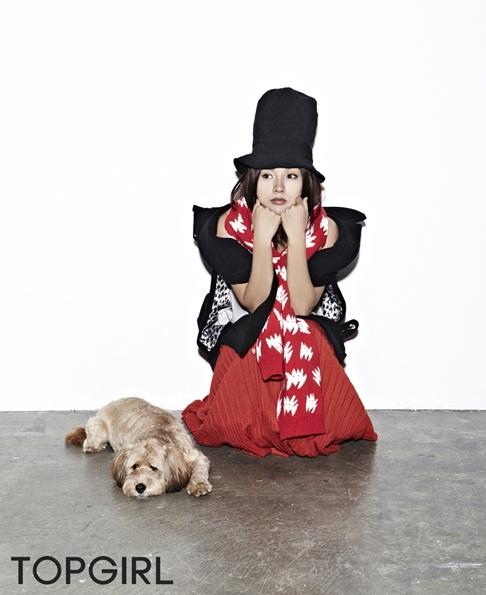 [포토] 이효리, 애견 순심이와 화보 모델 '숨길 수 없는 완벽 한 몸매 드러내'