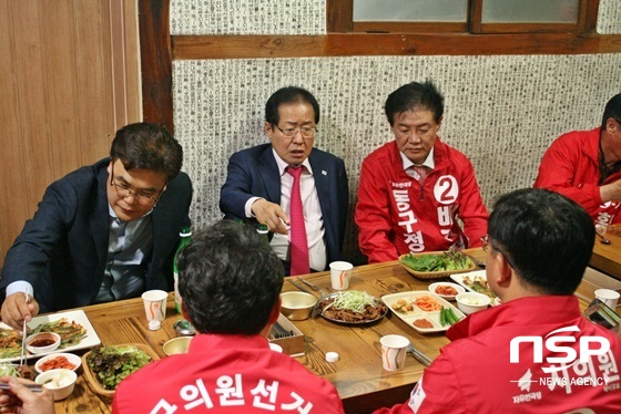 홍준표 자유한국당 대표, 6.13지방선거 대구 표심잡기 나서
