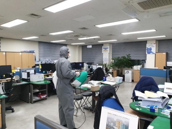 김포시 상하수도사업소, 코로나19 확산 방지 특별소독