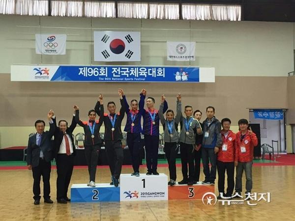 세종시, 전국체전 댄스스포츠 종합준우승… 라틴3종목 장세진과 이해인 금메달