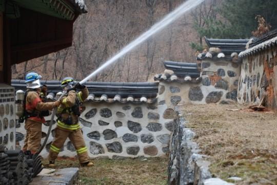 의왕소방서 임영대군 사당 가상화재 진압훈련