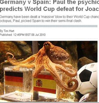 점쟁이 문어, 독일-스페인 전 승자 예언 적중