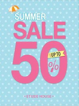 에뛰드하우스,  7월6일까지 'SUMMER PLAY!' 세일…최대 50% 할인