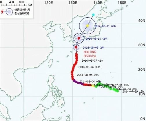 태풍 할롱 경로, 한반도 안 지나간다 '일본열도 비상'