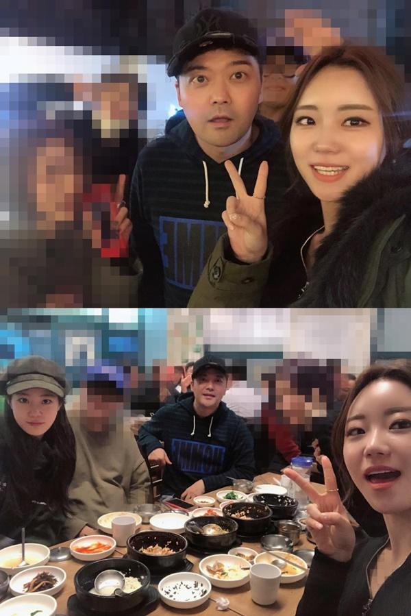 허송연, 허영지 언니…전현무와 식사자리에서 찰칵! '15살 나이차'
