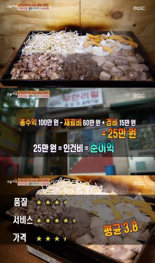 '생방송오늘저녁' 무한리필 철판구이 9900원, 거기 어디?