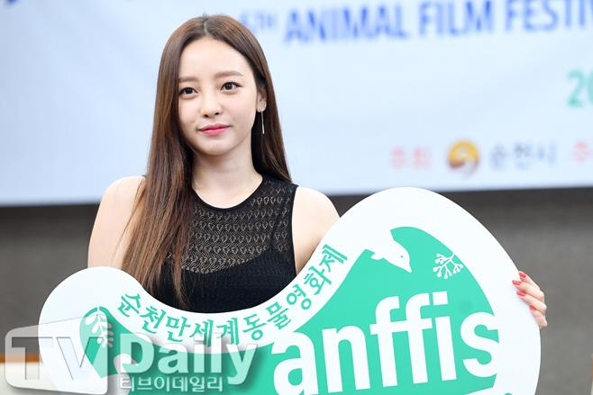 [TD포토] 구하라 '순천만세계동물영화제의 얼굴~'