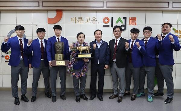 의성군청씨름단 윤필재, 태백장사 2관왕