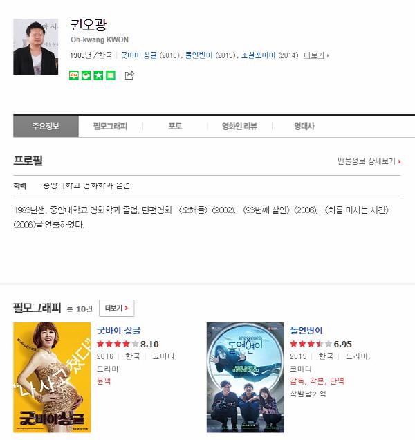 '타짜3' 김민정→최유화 논란 속 권오광 감독 관심↑...'굿바이싱글' 윤색, '돌연변이' 감독 각본 단역까지