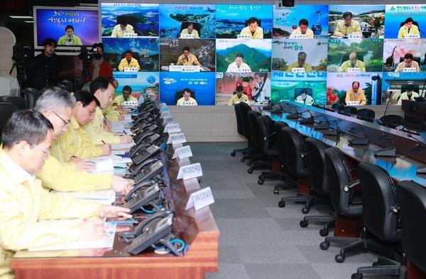 코로나19 막아라, 경남도 지역대응 점검 영상회의