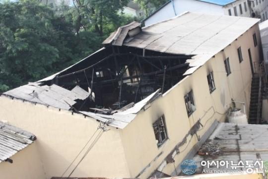 남동구 간석동 모플라스틱 공장 화재 발생