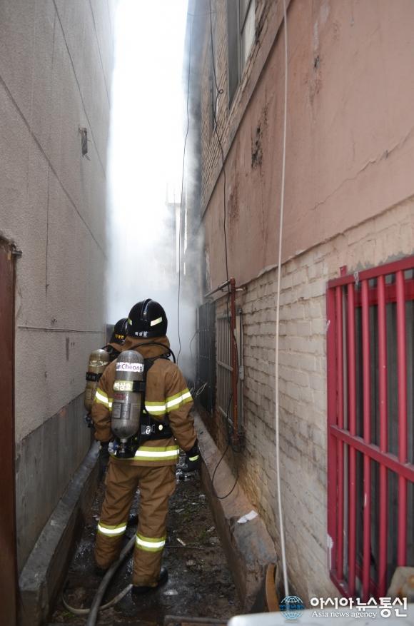 인천남동소방서, 간석동 근린생활 건물화재 3명 구조