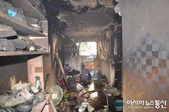 인천남동소방서, 부주의로 인한 화재, 신속한 화재진압!