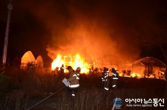 인천 남동공단 목공소 화재 건물 전소