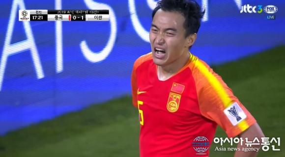 """""""병역문제 달려서 그런가?"""" 중국 울린 이란 경기 모습 BEST3…중국VS이란에 '일본 전' 기대돼"""