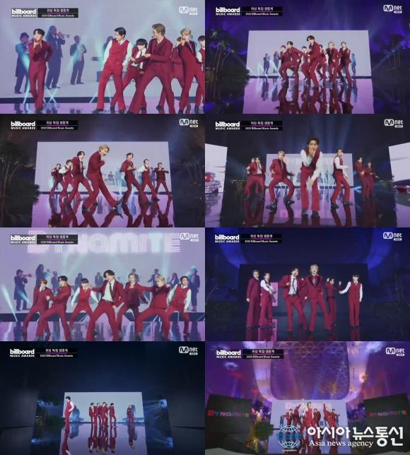 방탄소년단, '2020 빌보드 뮤직 어워드'서 'Dynamite' 칼군무