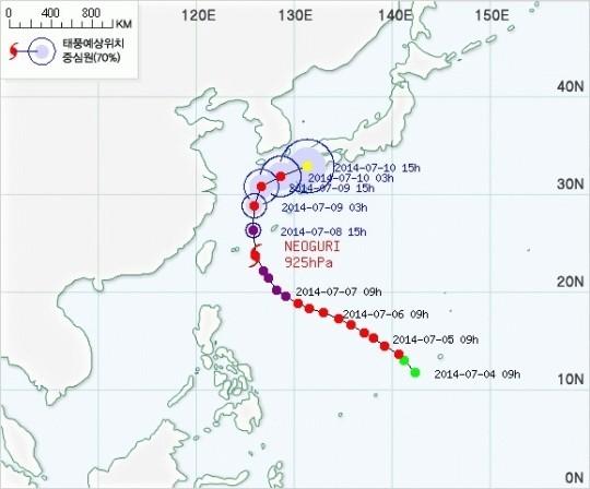 너구리 태풍 경로, 제주 영향권···일본으로 방향 틀 듯