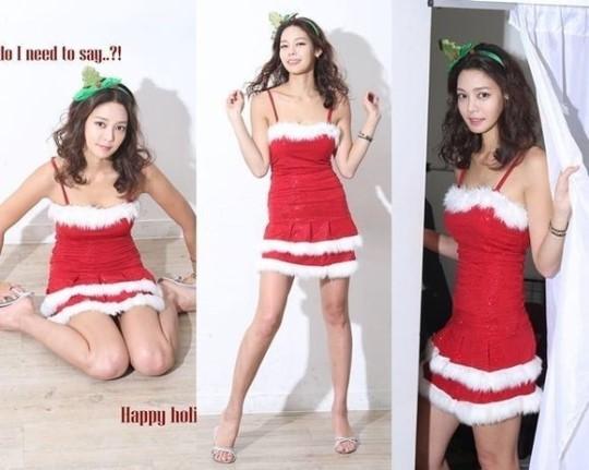 김민준 연인, 안현모 기자…빨간색 튜브톱 원피스 입고 '섹시 산타'로 변신