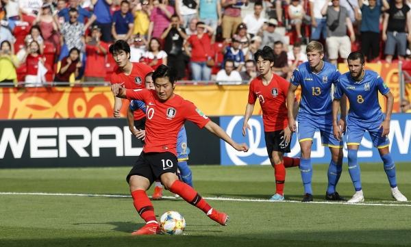 한국, 우크라이나에 1-3 역전패…U-20 월드컵 준우승