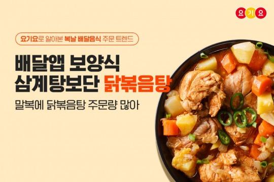 요기요, 복날 배달음식 주문 트렌드 공개