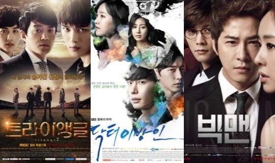 월화드라마 시청률, 트라이앵글8.9%-닥터이방인8.6%-빅맨8%