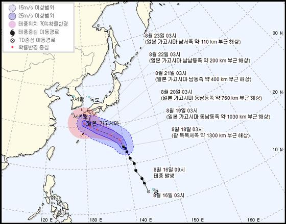 [오늘의날씨]19호 태풍 솔릭 북상, 폭염·열대야 완화된다