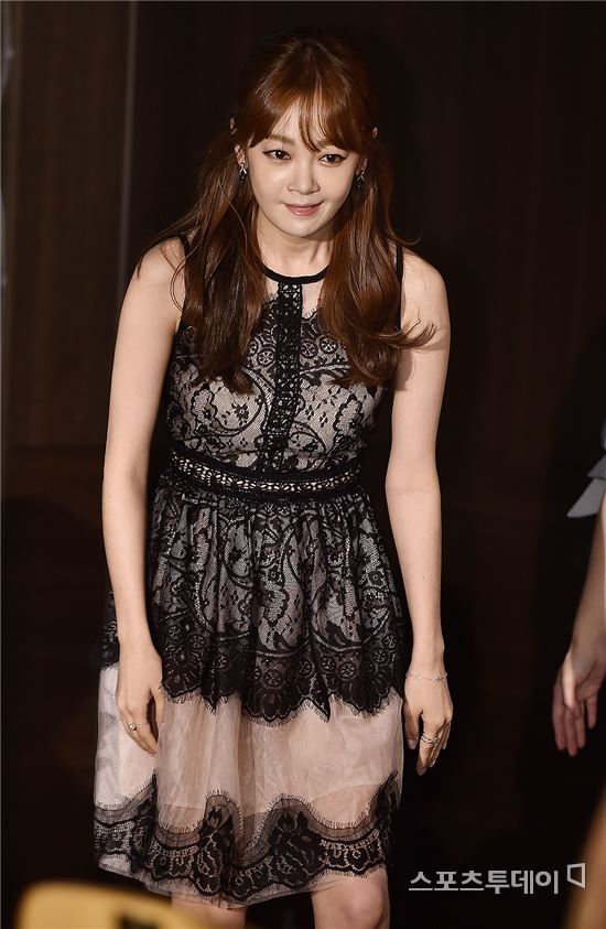 [ST포토] 김보미, '하늘하늘 누드톤 원피스 입고'
