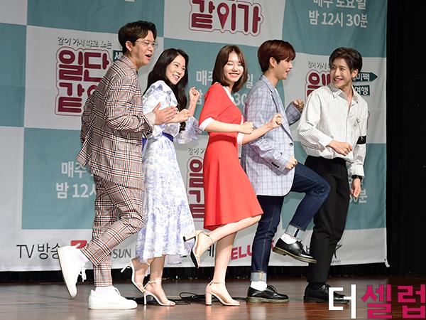 [더셀럽포토]토니안-한승연-김소혜-MJ-진진, '일단 같이가!' 출연진 모두 모여